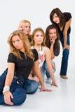 Una posizione delle cinque donne fotografia stock libera da diritti