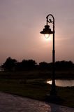 Una posta della lampada Fotografia Stock Libera da Diritti