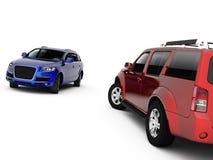 Una presentazione delle due automobili illustrazione di stock