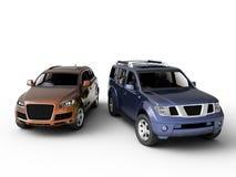 Una presentazione delle due automobili Fotografia Stock