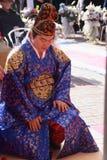Una prestazione della cerimonia nuziale coreana tradizionale fotografie stock
