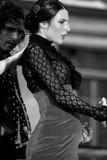 Una prestazione di ballo di flamenco di Alba Lucera a Ginevra fotografia stock libera da diritti