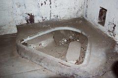 Una prigione comunista che commemora le atrocità e le pratiche comuniste di tortura e che applica confessione fotografia stock