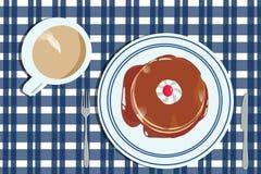 Una prima colazione calda e deliziosa immagine stock libera da diritti