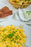 Una prima colazione calorosa Immagine Stock Libera da Diritti