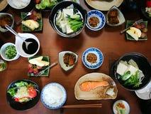 Una prima colazione giapponese calda Fotografie Stock