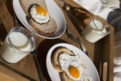 Una prima colazione su un vassoio Fotografia Stock Libera da Diritti