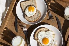 Una prima colazione su un vassoio Fotografie Stock Libere da Diritti