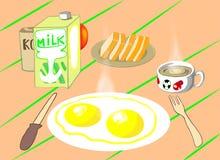 Una prima colazione sulla tavola royalty illustrazione gratis