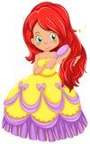 Una principessa che pettina i suoi capelli Fotografia Stock Libera da Diritti