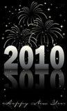 Una priorità bassa dei 2010 fuochi d'artificio Immagine Stock Libera da Diritti