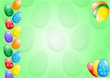 Una priorità bassa di otto uova di Pasqua Fotografie Stock