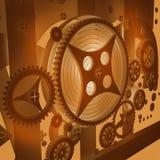 Una priorità bassa meccanica con gli attrezzi Immagine Stock