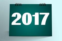 Una progettazione da tavolino del calendario di 2017 illustrazione vettoriale