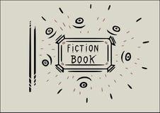 Una progettazione del libro per il libro di romanzo royalty illustrazione gratis