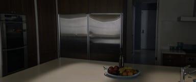 Una progettazione della cucina che è più affascinante e stupente fotografia stock libera da diritti