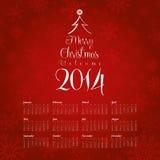 Una progettazione di 2014 calendari Fotografie Stock