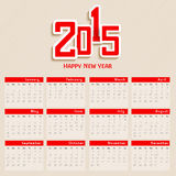 una progettazione di 2015 calendari Fotografia Stock Libera da Diritti