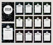 una progettazione di 2018 calendari illustrazione di stock