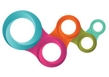 Una progettazione di cinque anelli Immagine Stock