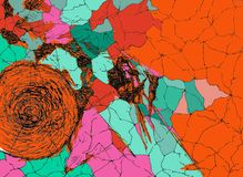 Una progettazione di Simitrical Ruff con le linee e la progettazione dei cerchi royalty illustrazione gratis