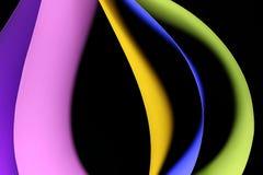 Una progettazione grafica di cinque fogli di carta colorata immagini stock