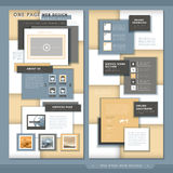 Una progettazione moderna del modello del sito Web della pagina royalty illustrazione gratis