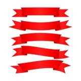 Una progettazione semplice meravigliosa dei nastri rossi Fotografia Stock