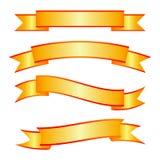 Una progettazione semplice meravigliosa dell'nastri dorati Immagini Stock Libere da Diritti