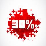 una promozione di 30 per cento Fotografie Stock Libere da Diritti