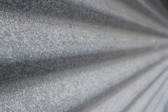 Ferro ondulato galvanizzato perspecive Immagine Stock