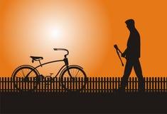Vada in bicicletta il ladro Immagini Stock