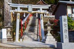 Una puerta de la capilla japonesa Fotografía de archivo