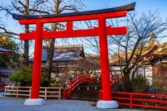 Una puerta de la capilla japonesa Foto de archivo libre de regalías