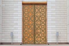 Una puerta de la mezquita adornada en estilo árabe en Bolgar, Tartaristán fotos de archivo libres de regalías