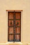 Una puerta de madera vieja en Amber Fort en Jaipur, la India imagen de archivo libre de regalías