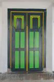 Una puerta en palacio del sultanato de Yogyakarta Fotografía de archivo libre de regalías
