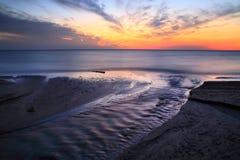 Puesta del sol del lago Erie Fotos de archivo