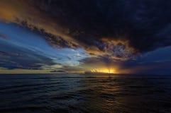 Una puesta del sol de Captiva Fotografía de archivo