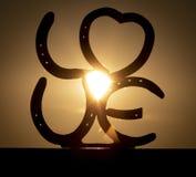 Una puesta del sol de LY Indiana del ` del amor del ` foto de archivo libre de regalías