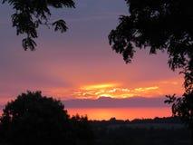 Una puesta del sol del terciopelo Foto de archivo libre de regalías