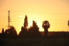 Una puesta del sol del valle Imagen de archivo