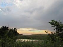 Una puesta del sol del verano Foto de archivo