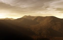 Una puesta del sol digital Imagen de archivo libre de regalías