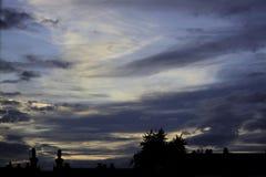 Una puesta del sol en Dartford Reino Unido Imágenes de archivo libres de regalías