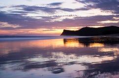 Una puesta del sol en Nicaragua Fotos de archivo