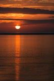 Puesta del sol en Islandia Fotos de archivo