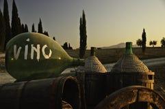Una puesta del sol en Toscana, Italia Fotos de archivo libres de regalías