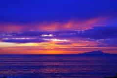 Una puesta del sol fantástica Foto de archivo libre de regalías