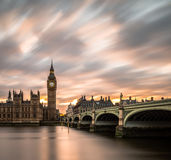 Una puesta del sol mágica fotografía de archivo libre de regalías